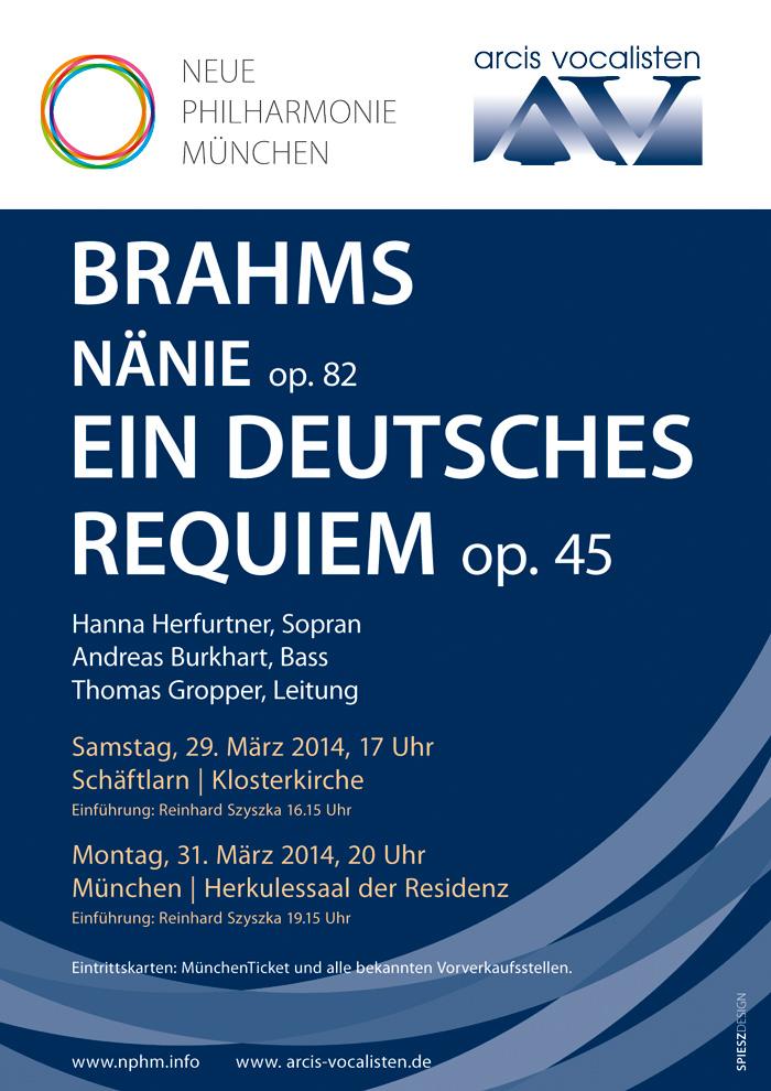 Brahms-Plakat